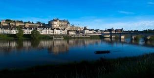 Amboise en el río Loira Imagen de archivo libre de regalías