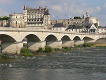 Amboise (France). View of Amboise in the Loire Valley from the other side of the river Royalty Free Stock Photos