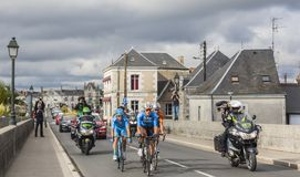 The Breakaway in Amboise - Paris-Tours 2017 stock images