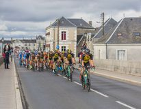 The Peloton in Amboise - Paris-Tours 2017 royalty free stock images