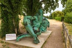 Amboise, France. Sculpture of Leonardo da Vinci Stock Images