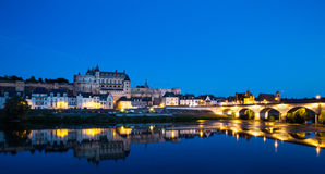 Amboise , France. View of the Amboise old town on Loire river, France Stock Photography