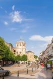Amboise, Francia La capilla de St Huberto en la cual entierran a Leonardo da Vinci foto de archivo libre de regalías