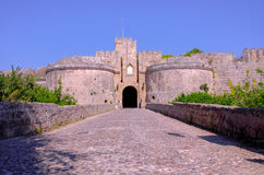 The Amboise Gate to ancient Rhodes Royalty Free Stock Images