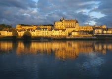 Amboise i Indre-et-Loiren, Frankrike. Arkivfoto