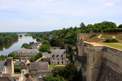 Amboise, Loire valley. View of Amboise and Loire river from the castle, France Stock Photography