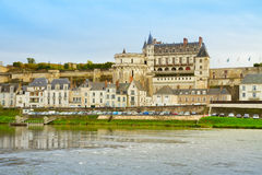 Amboise over Loire river, France Stock Photo