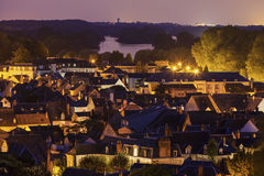 Amboise panorama - aerial view Royalty Free Stock Photography