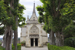 Amboise, Saint Hubert gothic chapel, Leonardo Da Vinci tomb in Loire Valley. France stock image