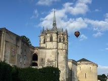 Amboise-Schloss mit einem Ballon stockfotos