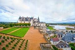 Amboise slott, Frankrike Arkivbild
