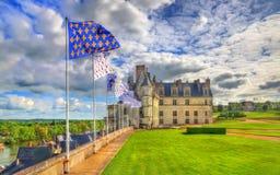 ` Amboise, un des châteaux dans le Val de Loire - France du château d Photo libre de droits