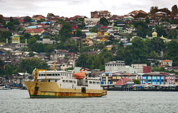Ambon City, Ambon Island, Indonesia. Ambon is the main city and seaport of Ambon Island, and is the capital of Maluku province of Indonesia. Ambon is the largest stock images