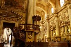 Ambona katedra w Leon, Guanajuato szczeg??owa artystyczne Eiffel rama France metalicznego poziomy Paris strza? wz?r pokazuje towe zdjęcia stock
