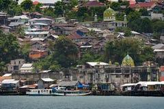 Ambonstad, Ambon-Eiland, Indonesië stock foto