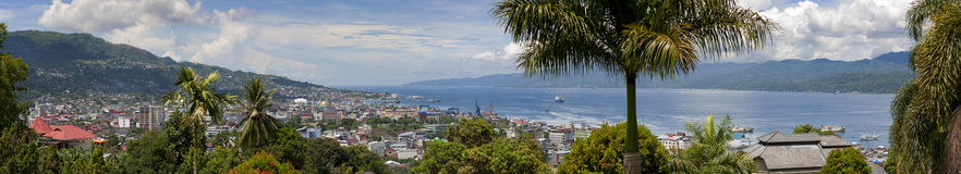 Ambonstad, Indonesië Royalty-vrije Stock Foto's