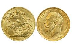 Moneda soberana Foto de archivo libre de regalías