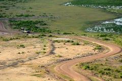 Amboseli nationalpark, Kenya Arkivfoton