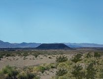 Amboy Crater on a Clear Day. Amboy, California Royalty Free Stock Photos