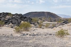 Amboy Crater National Natural Landmark Stock Image