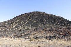 Amboy Krater-nationaler natürlicher Grenzstein Stockfoto