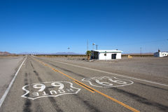 Amboy route 66. Old route 66 near the city Amboy at summer royalty free stock images