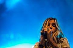 Ambra玛里活在Ambria音乐节 免版税库存图片