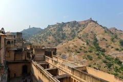 Ambra e fortificazione di Jaigarh, Jaipur Fotografie Stock