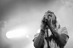 Ambra Marie in tensione al festival di musica di Ambria Fotografia Stock Libera da Diritti