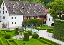 ambras在schloss附近的奥地利因斯布鲁克 免版税库存照片
