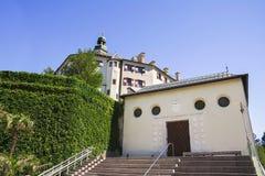 Ambras Castle and the garden in Innsbruck, Austria Stock Photos