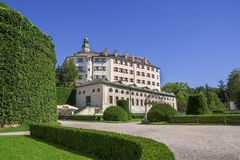 Ambras Castle and the garden in Innsbruck, Austria Stock Image