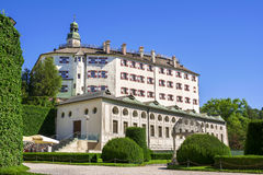 Ambras Castle and the garden in Innsbruck, Austria Stock Photography