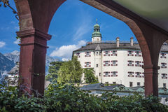 Ambras Castle near Innsbruck, Austria. Royalty Free Stock Photos