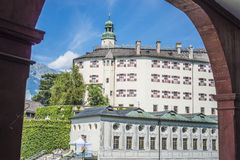 Ambras Castle near Innsbruck, Austria. Stock Photography