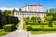 Schloss Ambras Castle, Innsbruck. Ambras Castle or Schloss Ambras Innsbruck is a castle and palace located in Innsbruck, the capital city of Tyrol, Austria stock photos