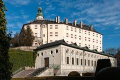 Ambras-Schloss nahe Insbruck, Österreich Stockbild