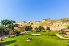 Ambre célèbre de point de repère du Ràjasthàn Photographie stock libre de droits