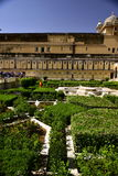 Ambre de fort, Inde, jardin Photographie stock