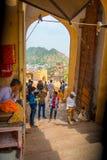 Ambre, Inde - 19 septembre 2017 : Personnes non identifiées marchant dans un marché en Amber Fort India Amber Fort est Photo stock