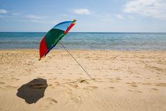Ambrella & beach Stock Photography