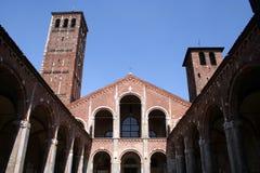 ambrogio教会米兰圣徒 库存图片
