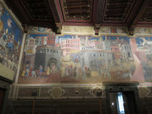 Ambrogio Lorenzetti frescoes in Siena Stock Photography