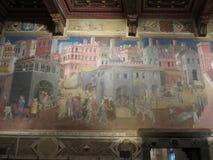 Ambrogio Lorenzetti frescoes in Siena Stock Photos