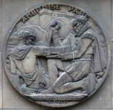 Ambroise Pare, fransk barberarekirurg, f?der av kirurgi och modern r?ttsmedicinsk patologi arkivfoton