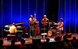 Ambrose Akinmusire Quintet voert levend op 28ste April Jazz uit Stock Afbeeldingen