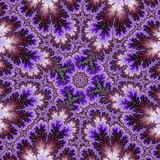 Purple Ambrosia fractal with swirls and stars Vector Illustration