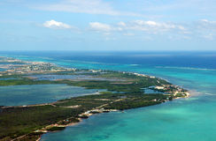 ambrowa Belize caye wyspa Zdjęcia Stock