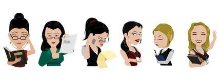 Ambtenaren vrouwelijk karakter stock illustratie