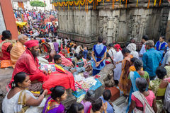 Ambubachi Mela 2014. Devotees gather  at Maa Kamakhaya Temple atop Nilachal Hills in Guwahati, the capital city of India's northeastern state of Assam on the Stock Photography